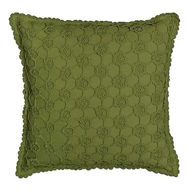 August Grove Chadford Crochet Envy Pillow Cover; Fern
