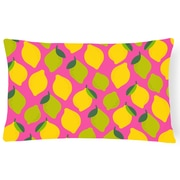 Latitude Run Newsoms Lemons and Limes Lumbar Pillow; Pink