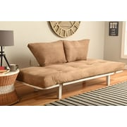 Ebern Designs Everett Convertible Lounger Futon and Mattress; Suede Peat