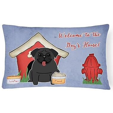 East Urban Home Dog House Rectangle Indoor/Outdoor Lumbar Pillow; Black
