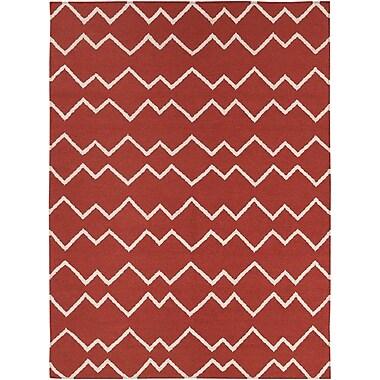 Longshore Tides Jayson Red Rug; 5' x 7'