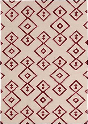 Union Rustic Abasi Red Geometric Rug; 5' x 7'