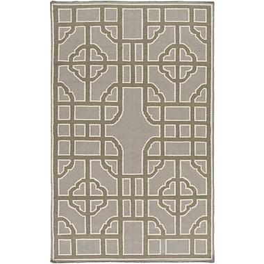Bay Isle Home Elsmere Charcoal/Olive Geometric Area Rug; 3'3'' x 5'3''