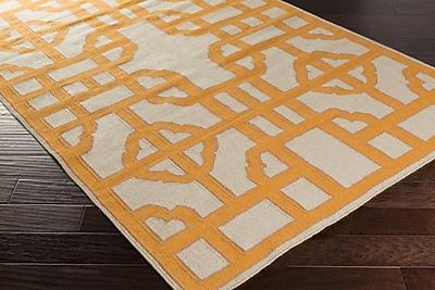 Bay Isle Home Elsmere Beige/Orange Geometric Area Rug; 3'3'' x 5'3''