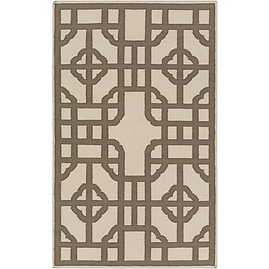 Bay Isle Home Elsmere Beige/Brown Geometric Area Rug; 2' x 3'