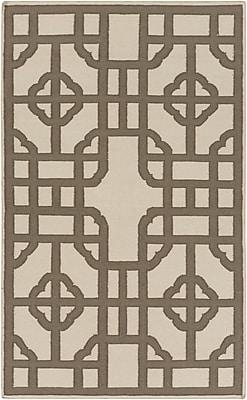 Bay Isle Home Elsmere Beige/Brown Geometric Area Rug; 8' x 11'