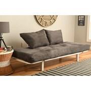 Ebern Designs Everett Convertible Lounger Futon and Mattress; Suede Gray