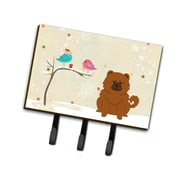 The Holiday Aisle Christmas Presents Between Friends Chow Chow Leash or Key Holder; Brown