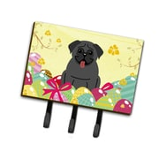 The Holiday Aisle Easter Eggs Pug Leash or Key Holder; Black