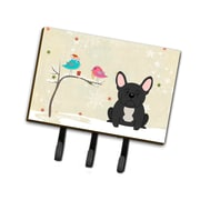 The Holiday Aisle Christmas French Bulldog Leash or Key Holder; Gray/Pink