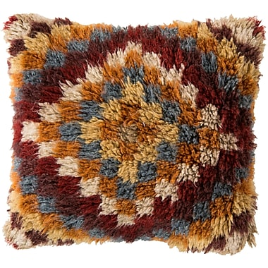 Union Rustic Andreas of Diamond Wool Throw Pillow; Polyester