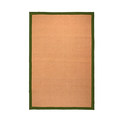 Breakwater Bay Makenna Hand-Woven Jute Green Area Rug; 4' x 6'