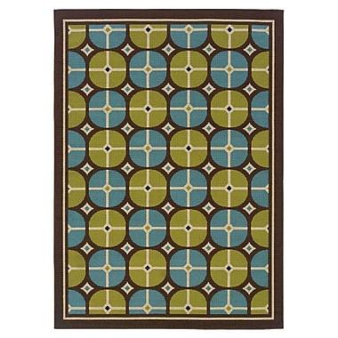 Winston Porter Michele Indoor/Outdoor Green/Ivory Area Rug; 1'9'' x 3'9''