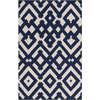 Mercer41 Hemel Hand-Woven Beige/Blue Area Rug; 2' x 3'
