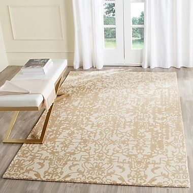 Ophelia & Co. Ellicottville Hand-Tufted Ivory/Sand Area Rug; 3' x 5'