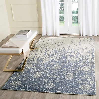 Ophelia & Co. Ellicottville Hand-Tufted Ivory/Blue Area Rug; 2' x 3'