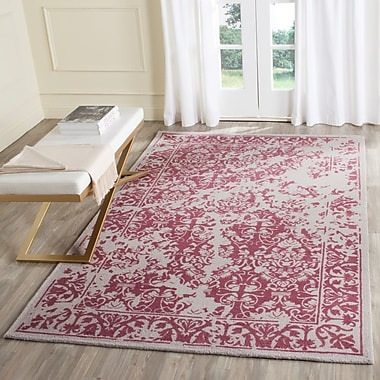 Ophelia & Co. Ellicottville Hand-Tufted Silver/Purple Area Rug; 4' x 6'