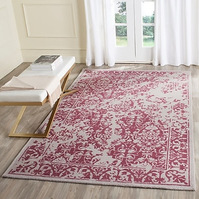 Ophelia & Co. Ellicottville Hand-Tufted Silver/Purple Area Rug; 3' x 5'