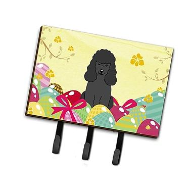 The Holiday Aisle Easter Eggs Poodle Leash or Key Holder; Black