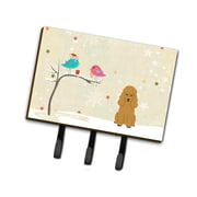 The Holiday Aisle Christmas Presents Between Friends Poodle Leash or Key Holder; Tan