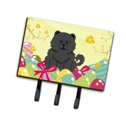 The Holiday Aisle Easter Eggs Chow Chow Leash or Key Holder; Black