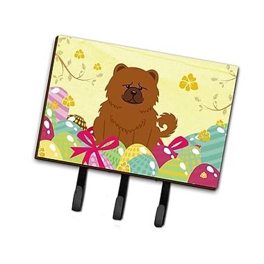 The Holiday Aisle Easter Eggs Chow Chow Leash or Key Holder; Brown