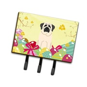 The Holiday Aisle Easter Eggs Mastiff Leash or Key Holder; White
