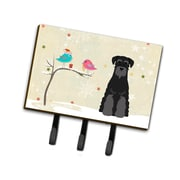 The Holiday Aisle Christmas Standard Schnauzer Leash or Key Holder; Black