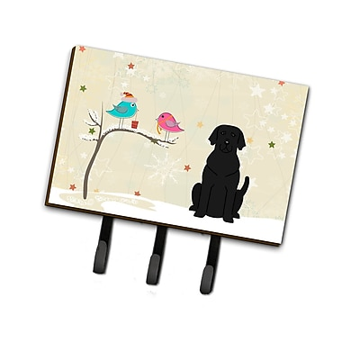 The Holiday Aisle Christmas Presents Between Friends Labrador Leash or Key Holder; Black