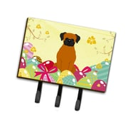 The Holiday Aisle Easter Eggs Fawn Boxer Leash or Key Holder; Brown