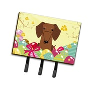 The Holiday Aisle Easter Eggs Dachshund Leash or Key Holder; Brown