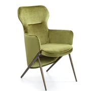 Mercer41  Epping Velvet Accent Chair; Green