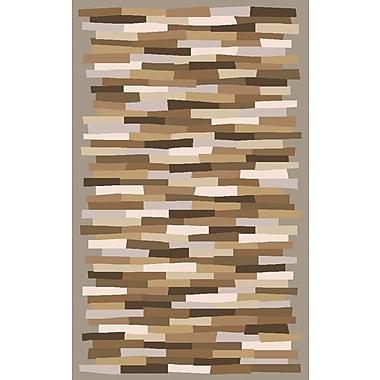 Brayden Studio Bowers Brown Hand-Tufted Area Rug; 5' x 8'