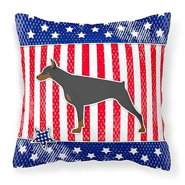 The Holiday Aisle Patriotic Blue/Red Modern Indoor/Outdoor Throw Pillow; 18'' H x 18'' W x 3'' D