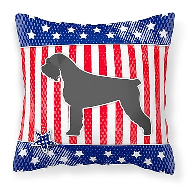 The Holiday Aisle Patriotic Square Solid Indoor/Outdoor Throw Pillow; 18'' H x 18'' W x 3'' D
