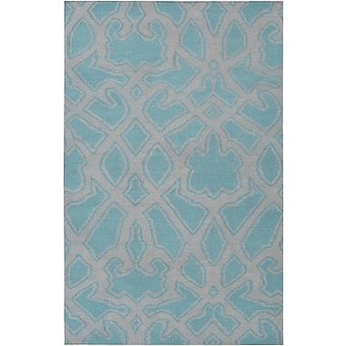 Darby Home Co LaGrange Gray/Teal Area Rug; 5' x 8'