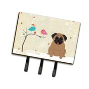 The Holiday Aisle Christmas Contemporary Presents Between Friends Pug Leash or Key Holder; Brown