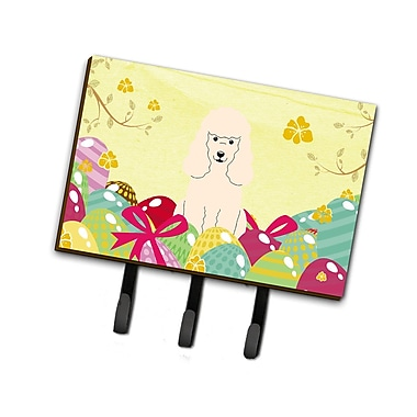 The Holiday Aisle Easter Eggs Poodle Leash or Key Holder; White
