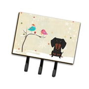 The Holiday Aisle Christmas Dachshund Leash or Key Holder; Gray/Yellow