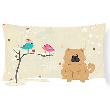 The Holiday Aisle Christmas Modern & Contemporary Indoor/Outdoor Lumbar Pillow; Cream