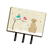 The Holiday Aisle Christmas Presents Between Friends Labrador Leash or Key Holder; Yellow