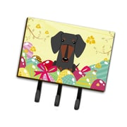 The Holiday Aisle Easter Eggs Dachshund Leash or Key Holder; Black/Tan