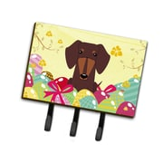 The Holiday Aisle Easter Eggs Dachshund Leash or Key Holder; Chocolate