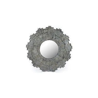 17 Stories Round Charcoal Wall Mirror