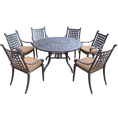 Darby Home Co Arness 10 Piece Metal Dining Set and Bar Set