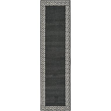 Willa Arlo Interiors Cendrillon Charcoal Area Rug; Runner 2'7'' x 10'