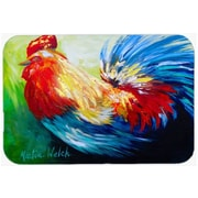 August Grove Jaiden Bird - Rooster Chief Big Feathers Glass Cutting Board