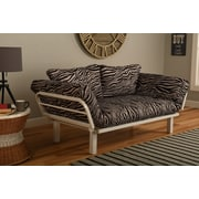 Bloomsbury Market Maloof Convertible Lounger in Zebra Zen Futon and Mattress