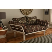 Bloomsbury Market Maloof Convertible Lounger in Galaxy Camo Futon and Mattress