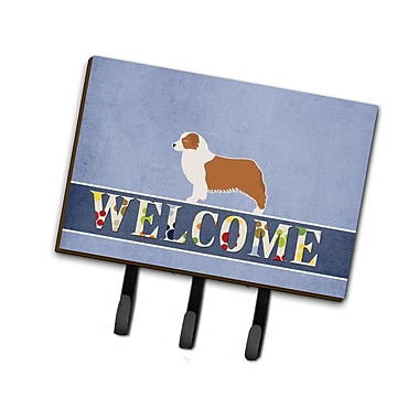 East Urban Home Australian Shepherd Dog Welcome Leash or Key Holder